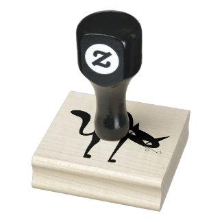 Gewölbte Katzen-Entwurfs-hölzerne Briefmarke Gummistempel