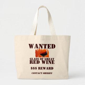 Gewollte Rotwein-Tasche! Jumbo Stoffbeutel