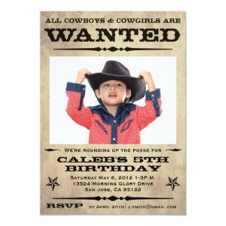 Gewolltes Plakat scherzt Party 12,7 X 17,8 Cm Einladungskarte