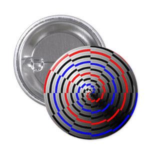 Gewundener Kegel durch Kenneth Yoncich Runder Button 3,2 Cm