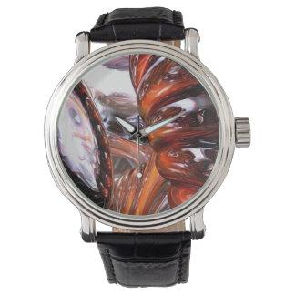 Gewundenes Maß abstrakt Uhr
