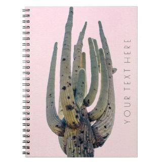 Gewundenes Notizbuch des Saguaro-Ausschnitt-| Notizblock