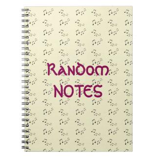 Gewundenes Notizbuch - gelegentliche musikalische
