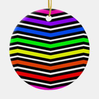 Gezackte Wellen multi Rundes Keramik Ornament