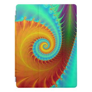 Gezahnte Spirale im Türkis und im Gold iPad Pro Cover