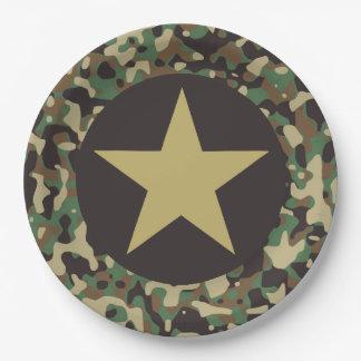 GI-JOE-MilitärParty-Papier-Teller Pappteller