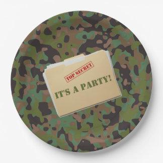 GI-JOE-Tarnungs-Party-Papier-Abendessen-Teller Pappteller