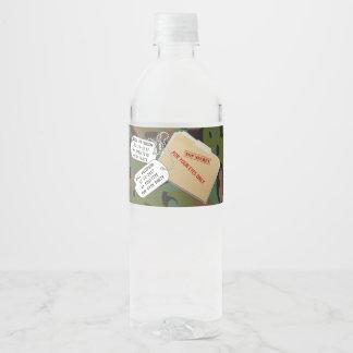GI-JOE-Tarnungs-Party-Wasser-Flaschen-Aufkleber Wasserflaschenetikett