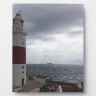 Gibraltar-Leuchtturm Fotoplatte