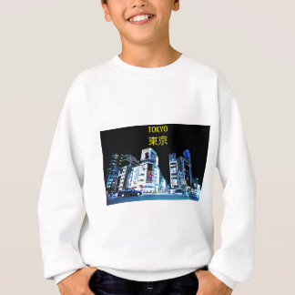 Ginza Bezirk in Tokyo, Japan nachts Sweatshirt