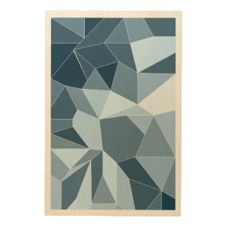 Giometric Diamant schattiertes blaues Muster Holzleinwand