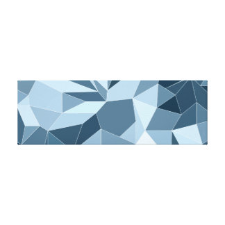 Giometric Diamant schattiertes blaues Muster Leinwanddruck