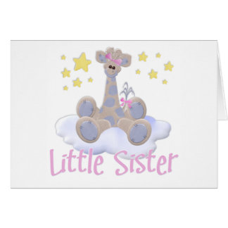 Giraffe auf einer Wolken-kleinen Schwester Karte