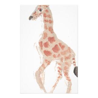 Giraffe, die Eliana zeichnet Personalisiertes Büropapier