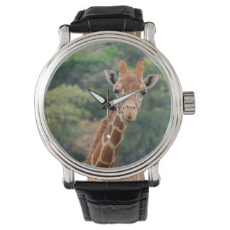 """Giraffe sagt """"Käse"""" mit einer großen Lächeln-Uhr Uhr"""