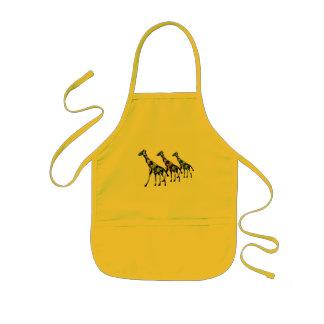 Giraffen-Familien-Ausflug-Kleinkind Arpon Kinderschürze