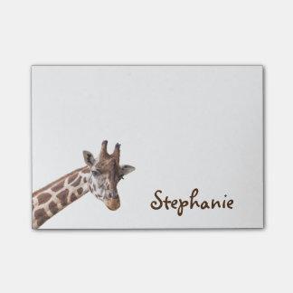 Giraffen-Girly Namenspost-itanmerkungen Post-it Klebezettel