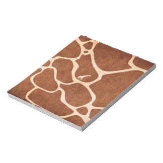 Giraffen-Haut-Muster-Oberfläche befleckt Linien Memo Notizblöcke
