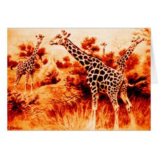 Giraffen-Karte Karte