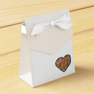 Giraffen-Liebe-Herz-Hochzeits-Bevorzugungs-Kästen Geschenkschachtel
