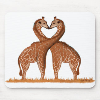 Giraffen-Liebe-Herz-Mäusematten Mousepad