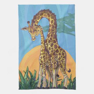 Giraffen-Mutter und Baby Handtuch