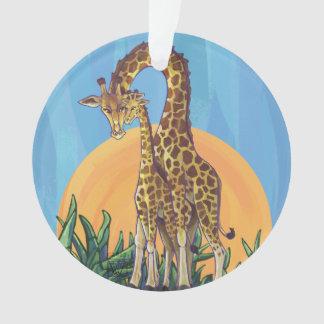 Giraffen-Mutter und Baby Ornament
