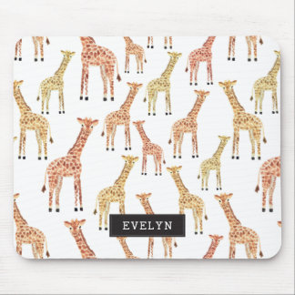 Giraffen-Safari-Druck Mousepads