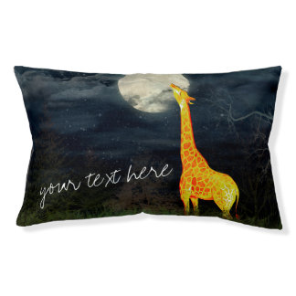 Giraffen-und des Mond-| kundenspezifisches Haustierbett