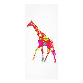 Giraffenfunky retro Blumenhandelsname-Lesezeichen 12,2 X 22,9 Cm Kartendruck