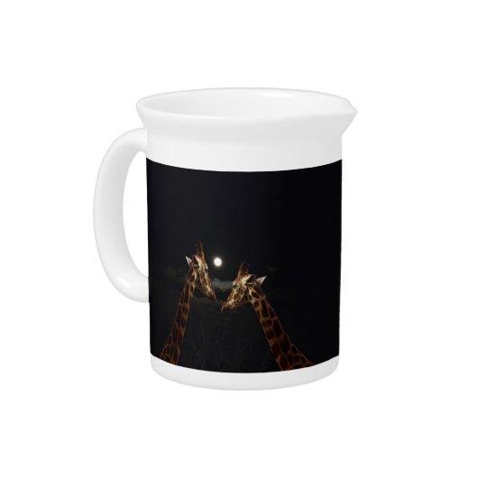 Giraffes_In das Mondschein. _Milk_Jug Getränke Krug
