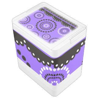 Girlande ARTdeco Schwarz-weiß + Ihr backgr. Farbe Igloo Kühlbox