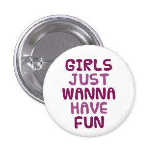 Girls Runder Button 3,2 Cm