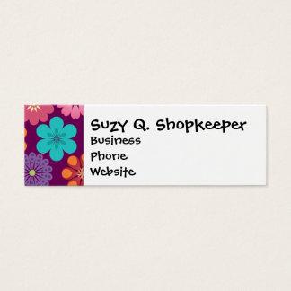 Girly Blumen-Power-buntes lila mit Blumenmuster Mini Visitenkarte