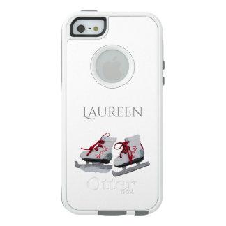 Girly Eis-Skate auf Weiß addieren Namen OtterBox iPhone 5/5s/SE Hülle