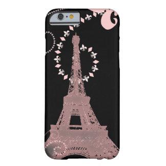 girly eleganter rosa Eiffel-Turm Paris Vintag Barely There iPhone 6 Hülle