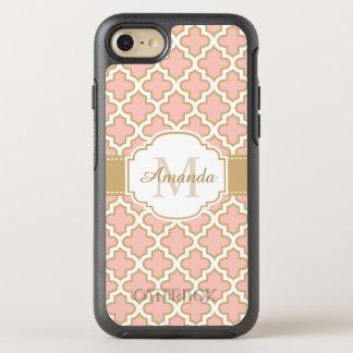 Girly erröten rosa GoldQuatrefoil OtterBox Symmetry iPhone 7 Hülle