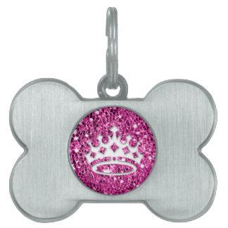 Girly Prinzessin Crown auf rosa Glitzer-Blick Tiermarke