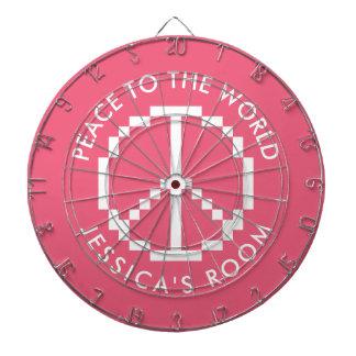 Girly rosa kundenspezifischer Dartboard mit Dartscheibe