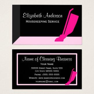 Girly Vakuumrosa und schwarzer Visitenkarte