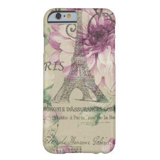 girly Vintages Blumen Turms Chicparis Eiffel Barely There iPhone 6 Hülle