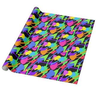 Gitarren-Spritzen-Muster Einpackpapier