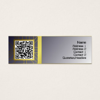 Gitter der Quallen-WGB drehte sich umgewandelt Mini-Visitenkarten