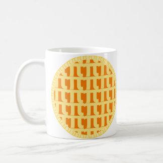 Gitter-Kürbiskuchen - PU-Tag Tasse
