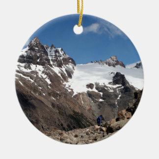 Glacier Nationalparkberge, Argentinien 2 Keramik Ornament