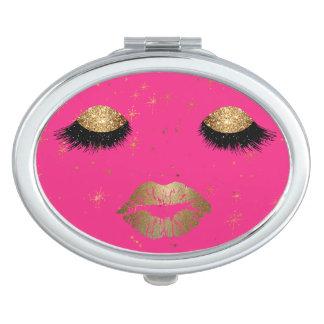Glamour-Augen-und Lippenkompakter Spiegel Taschenspiegel