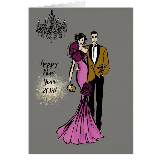Glamour Couple Karte