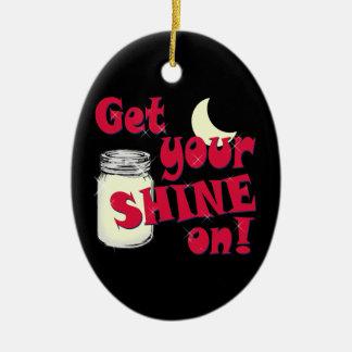 Glanz an keramik ornament