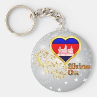 Glanz auf Kambodscha Schlüsselanhänger