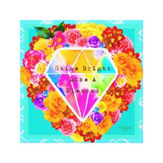 Glanz hell wie ein Diamant Leinwanddruck